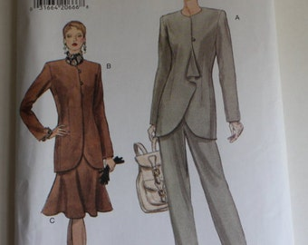 Very Easy Very Vogue Sewing Pattern 9157, Size 14, 16, 18, Misses' Jacket Skirt, Pants, Vintage, Fashion, Power Suit, Business Fashion