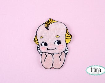 kewpie iron on patch embroidered patch