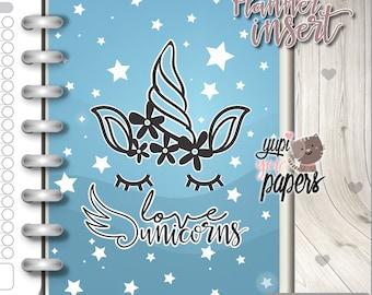 Unicorn Insert, Planner Insert, Printable Planner Insert, Planner Divider, Planner Quotes, Planner Dashboard, Kawaii Planner