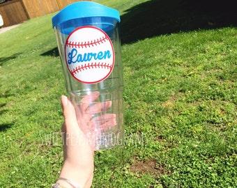 Personalized Baseball Cup, Baseball Tumbler, Softball Cup, Coach Gift