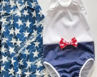 American Girl toddler swimsuit / swimwear /bathing suit/ baby swim suit/ beach glam/infant swimsuit/ beach wear/fancy swim suit/ baby bikini