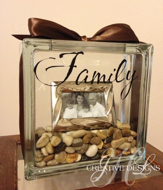 Glass Block Picture Frame from JLHCreativeDesigns on Etsy Studio