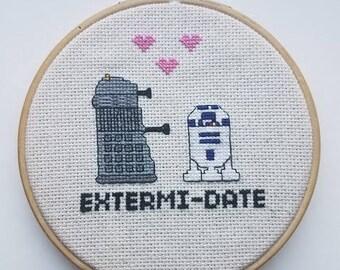 Dr. Who - Star Wars Love - Dalek - R2D2 - Decoration - Valentine's Day - Card