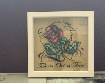 Tale as old as time frame | beauty and the beast themed frame