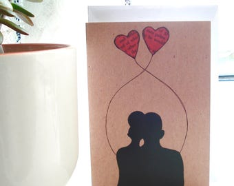 Not Just for Valentines Day Card - Entwined