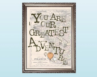 You Are Our Greatest Adventure - Travel Theme Nursery Decor - Instant Download