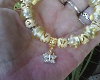 Rich Yellow and Gold, Euro style bracelet