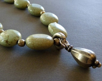 Soft green turquoise necklace