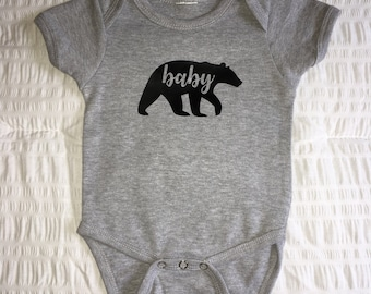 Baby Bear One-Piece, Baby Bear Creeper, Baby Bear Bodysuit, Baby Bear Snapsuit