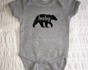 Baby Bear One-Piece, Baby Bear Creeper, Baby Bear Bodysuit, Baby Bear Snapsuit