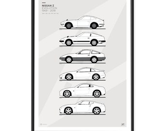 Nissan Z Car Generations Poster