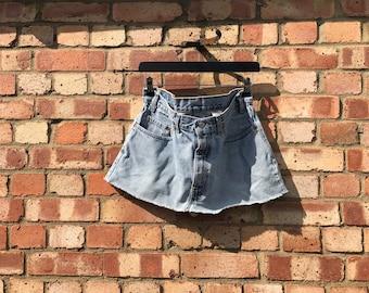 Vintage Reworked Levi Denim Skirt