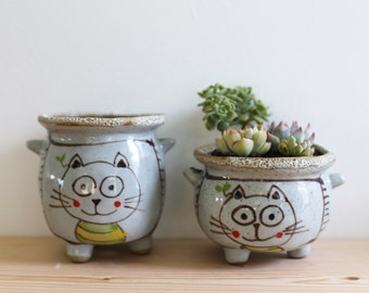 Rare Succulent-Handmade Succulent Planters with Drainage Hole and Supporting Feet