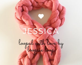 Chunky knit Cosy Jessica Scarf short | Sumptuous Merino wool treats for you & your home