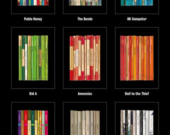 SPECIAL OFFER: Radiohead Any 4 Albums As Collections of Books Poster Prints for the price of 3 with FREE Shipping