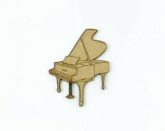 Decorative musical instrument of minted vocal family: the piano