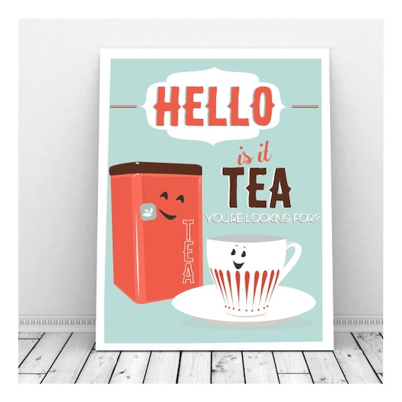 Funny Kitchen Art Funny Wedding Sign Instant Download Tea