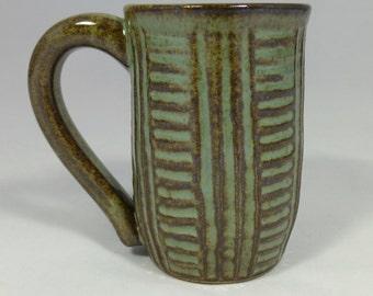Sage Green Latte or Cappuccino Cup Mug
