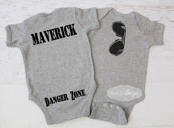 Aviator Sunglasses Bodysuit THE ORIGINAL Mirror Style bodysuit with Maverick Danger Zone on the Bum pictured in Heather Grey