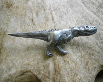 Tyrannosaurus Rex Dinosaur Pin, Badge, Brooch, Pewter