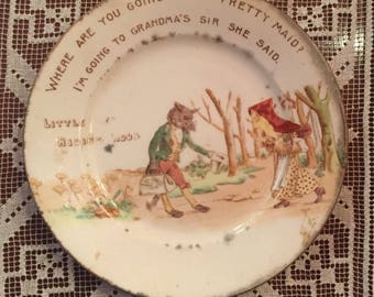 Circa 1903 Little Red Riding Hood Plate