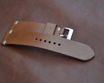 22/20 handmade Calf Leather watch strap custom made by NeptuneStraps