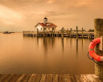 Mateo Marshes Lighthouse at Sunrise - Outer Banks North Carolina