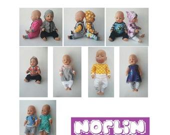 PDF mønster - Sy kule klær til dukken
