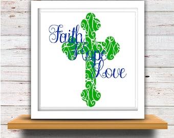 faith hope love (svg007), religious svg, religious clipart, religious , christian svg, cross svg, cross vector, cross clipart, faith svg