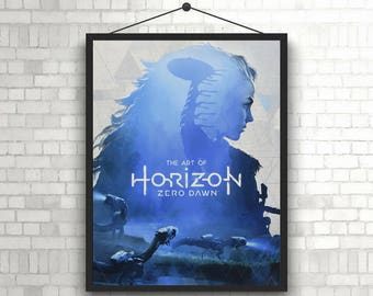 Horizon zero dawn video game poster