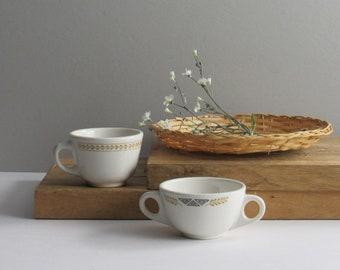 Vintage Homer Laughlin Coffee cup and Sugar bowl -retro - mid century - vintage