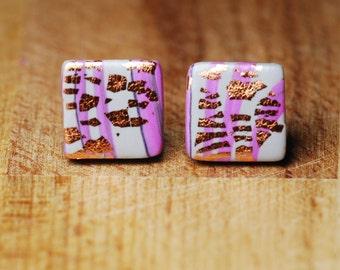 Funky Earrings - Unusual Earrings - Polymer Clay Earrings - Hypoallergenic Stud Earrings - Handmade Earrings - Statement Earrings -