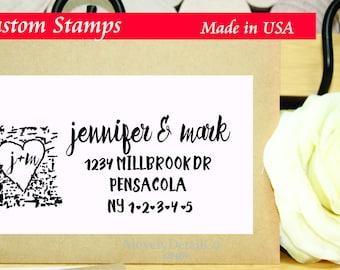 Family Return Address stamp tree rustic Personalized address stamp  rubber stamp self ink return address stamp rustic gift new couple