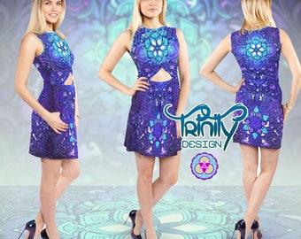 Hippie Dress Gypsy Dress Music Festival Clothing Women EDM Clothing Rave Outfit Rave Clothing Psychedelic Dress Psy Trance Hippie Clothes