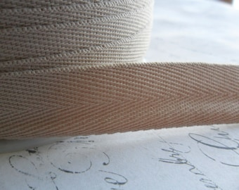 Sandstone Twill Tape approx 3/4  inch wide