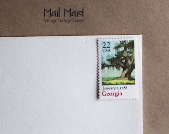 Georgia Statehood Vintage Postage Stamps (Set of 10)