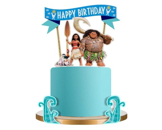 Moana Cake Topper Moana Birthday Cake Topper Moana Birthday