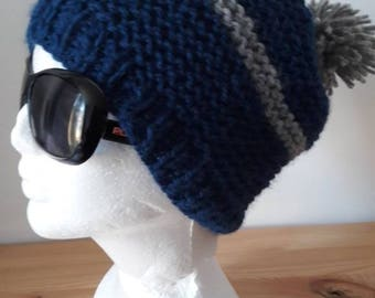 Adult Hat 3 colors knit