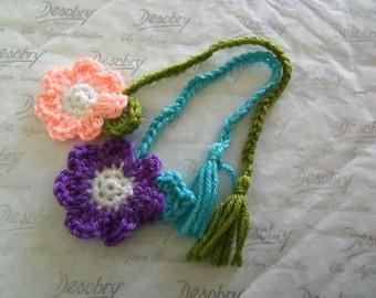 Crochet Flower Bookmarks. Handmade Crochet Flower Bookmarks.