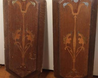 Wooden Inlaid Panels, Architectural Salvage, Furniture Salvage, Indian Furniature, Hardwood Panels, Inlaid Wood Panel, Wooden Trivets