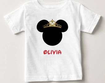Personalized Birthday T-Shirt - Personalized Disney Inspired Princess - Minnie Mouse Inspired Birthday Party - Princess Shirt