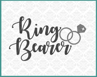 CLN0223 Ring Bearer Little Boy Bridal Party Shower Wedding Rings SVG DXF Ai Eps PNG Vector Instant Download Commercial Use Cricut Silhouette