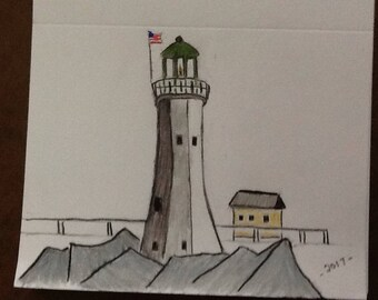 lighthouse card picture