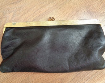 Vintage  BLACK Clutches, Evening Bags, Genuine Leather Purse