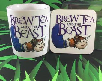 Brew Tea and the Beast Mug & Coaster Set
