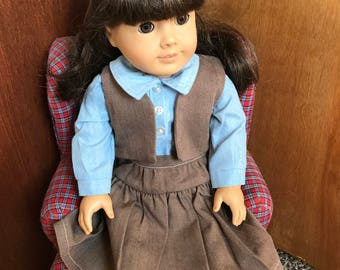 American Girl Doll Clothing, Licensed Vintage Girl Scout Brownie Uniform #3