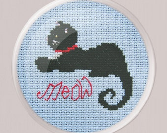 Cleo the Cat Cross Stitch - Cute Cross Stitch Pattern - Instant Download - Cat Cross Stitch Pattern