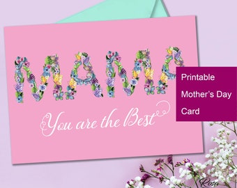 Mothers Day card printable Mothers Day card floral Mothers day Cards Printable Mothers Day card Printable mothers day gift  Mother Day card