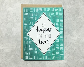 Congratulations Card - So Happy For You Two