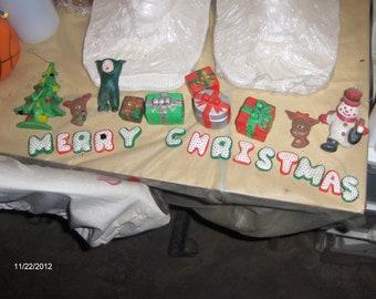 Merry Christmas letter table decor